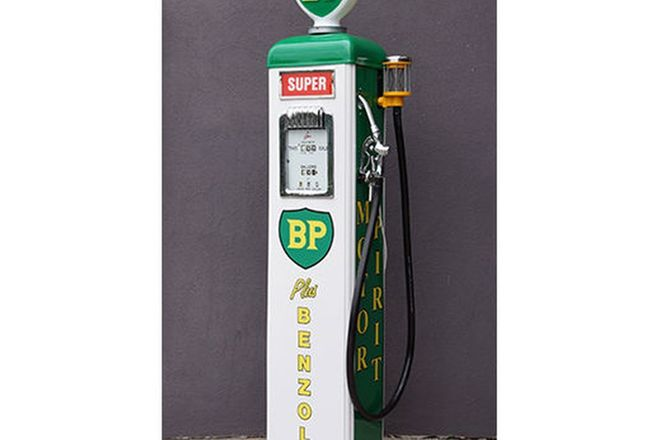 Petrol Pump - Gilbarco Electric in BP Livery with Reproduction BP Globe