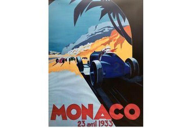 Framed Monaco Print 1933