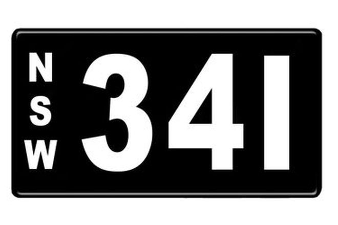 Number Plates - NSW Numerical Number Plates '341'