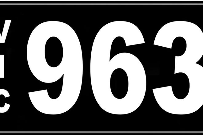 Number Plates - Victorian Numerical Number Plates '963'