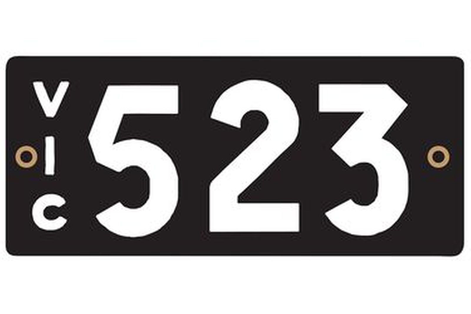 Victorian Heritage Number Plates '523'