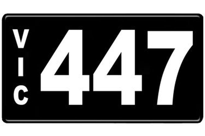 Number Plates - Victorian Numerical Number Plates '447'