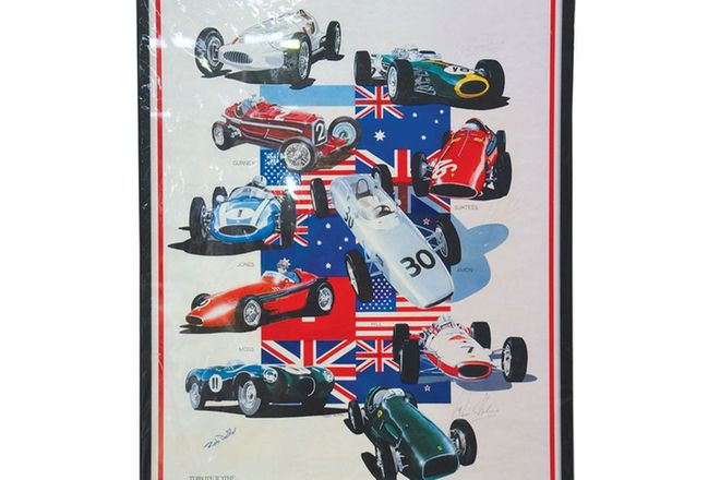 Signed Print - 'Tribute to the Champions' (Includes 2 Jack Brabham photos)
