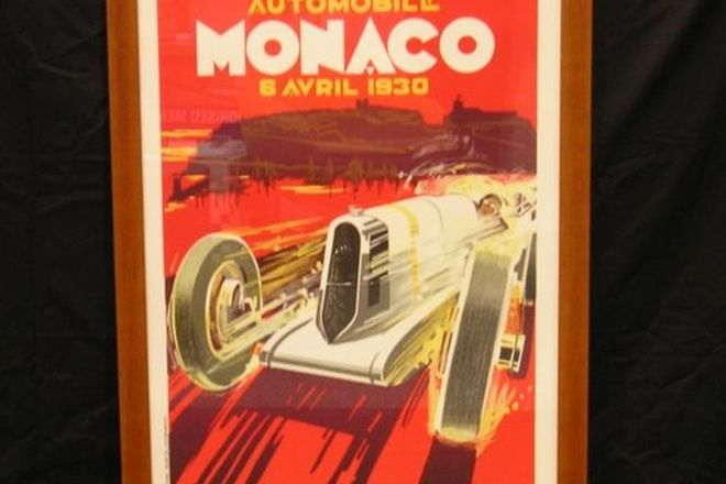 Large Framed Poster - 1930 Monaco GP