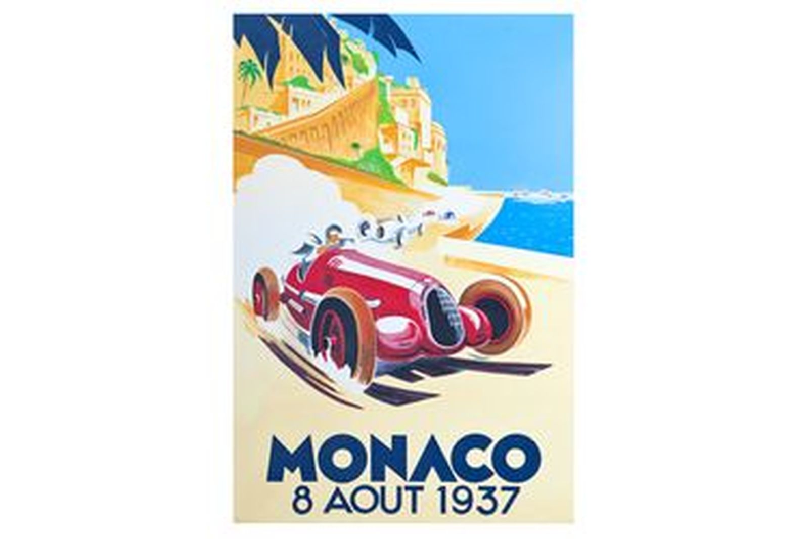 Quality Prints Framed - Monaco 8 Avril 1937