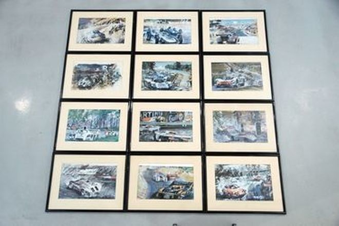 Framed Prints - 34 x Assorted Car & Bike Prints