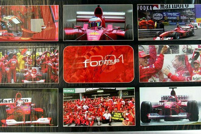 Framed Collage - 2001 Ferrari F1 Team Photos signed