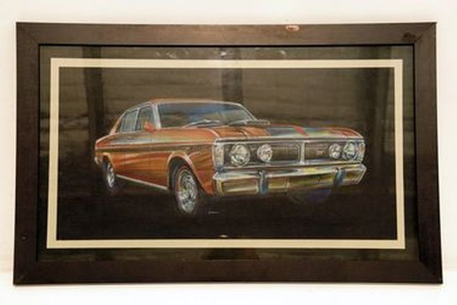 Framed Artwork - Ford Falcon GT - Size A2