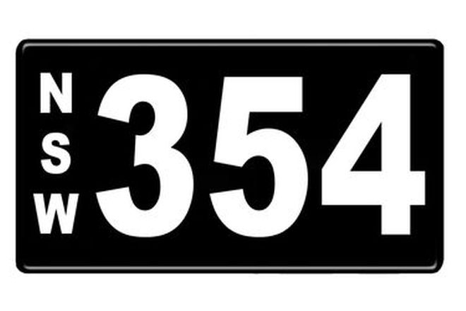 Number Plates - NSW Numerical Number Plates '354'