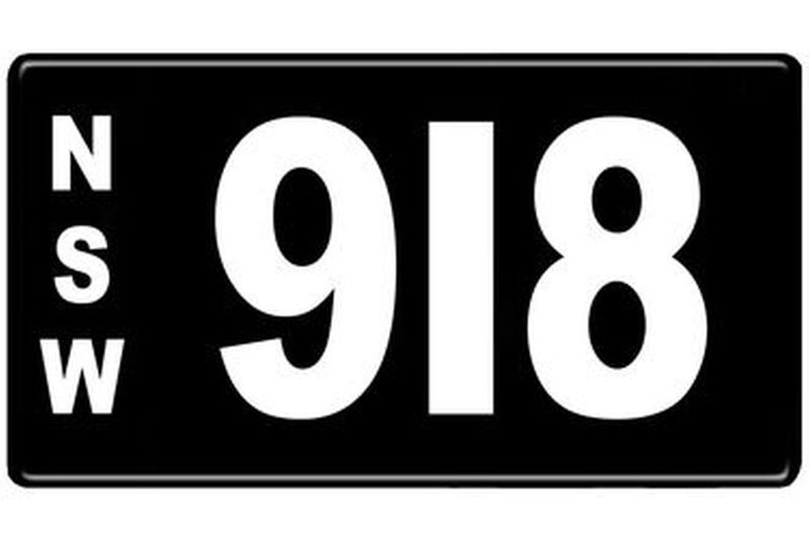 Number Plates - NSW Numerical Number Plates '918'