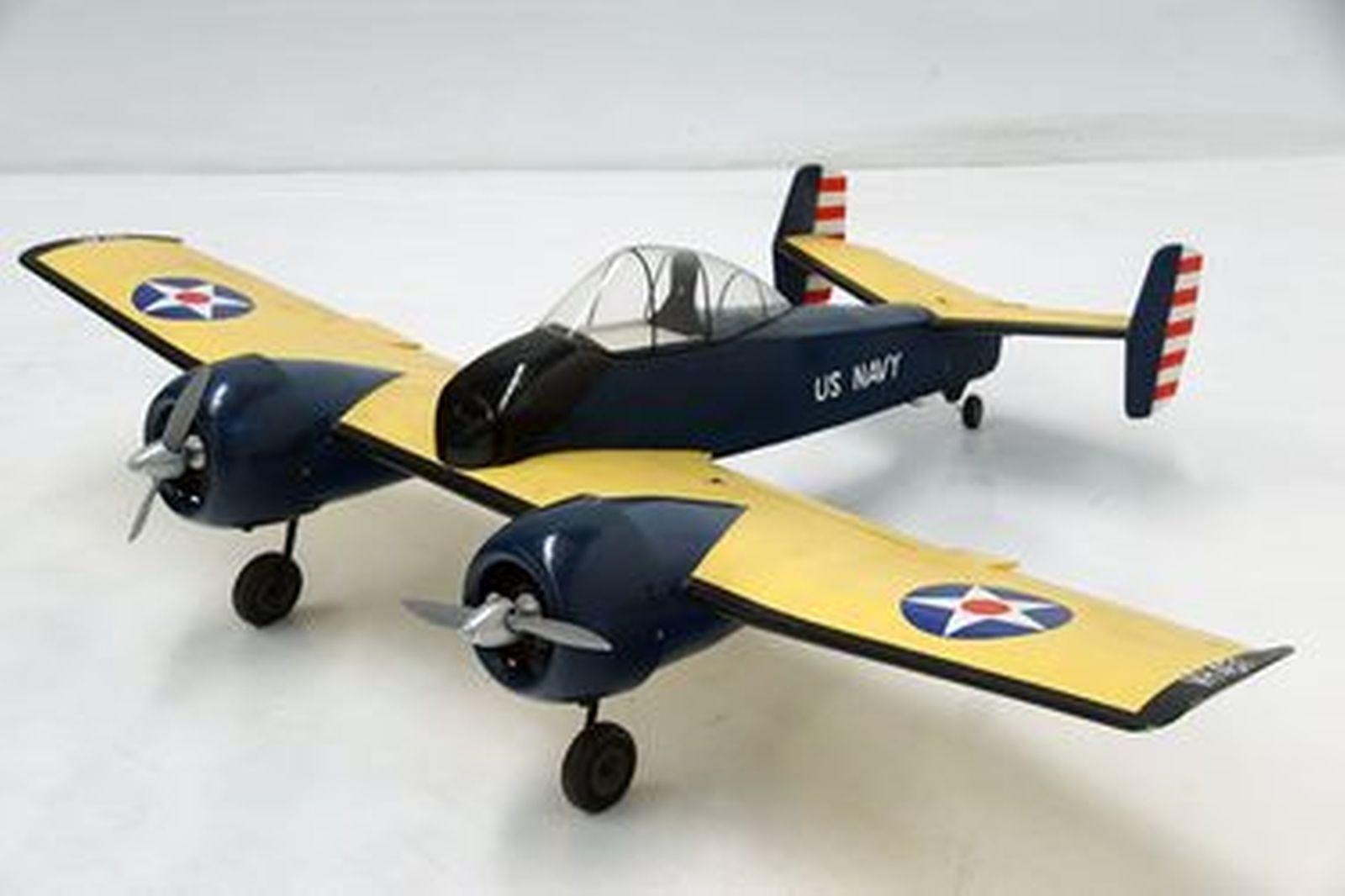 Model Plane - Grumman Twin Motor CF5F Skyrocket Shipborne US Navy Fighter