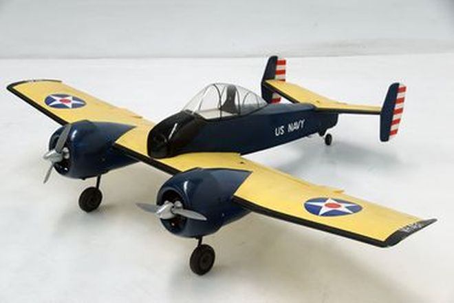 Model Plane - Grumman Twin Motor CF5F Skyrocket Shipborne US Navy Fighter