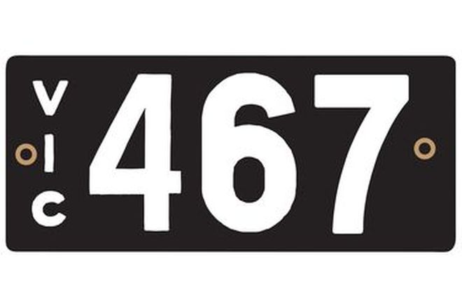 Victorian Heritage Number Plates '467'