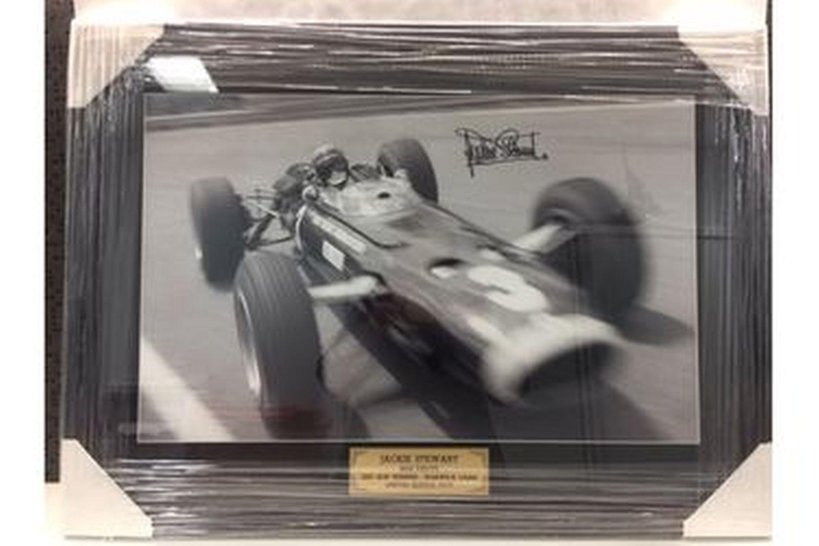 Framed Photo - Jackie Stewart 1967 Warwick Farm AGP Winner (75 x 55cm)