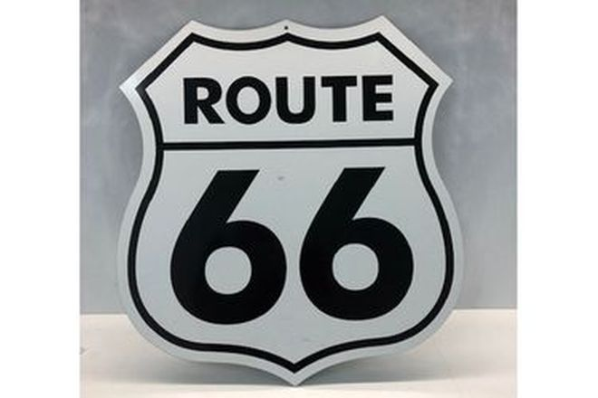 Route  66 Tin Single sided sign