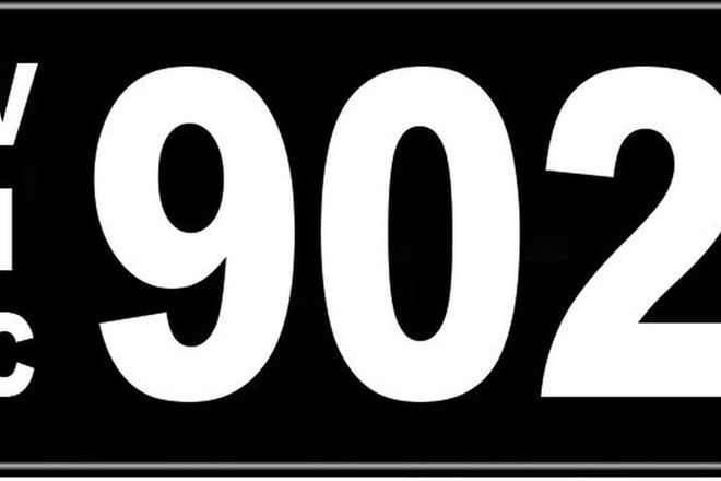 Number Plates - Victorian Numerical Number Plates '902'