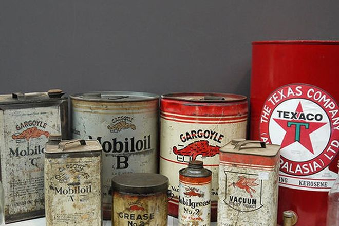 Garage Tins - Collection of Various MobilOil Tins