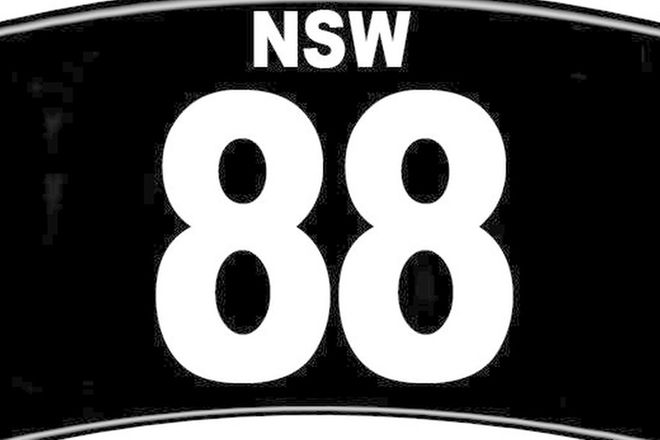 NSW Motorcycle Numerical Number Plates