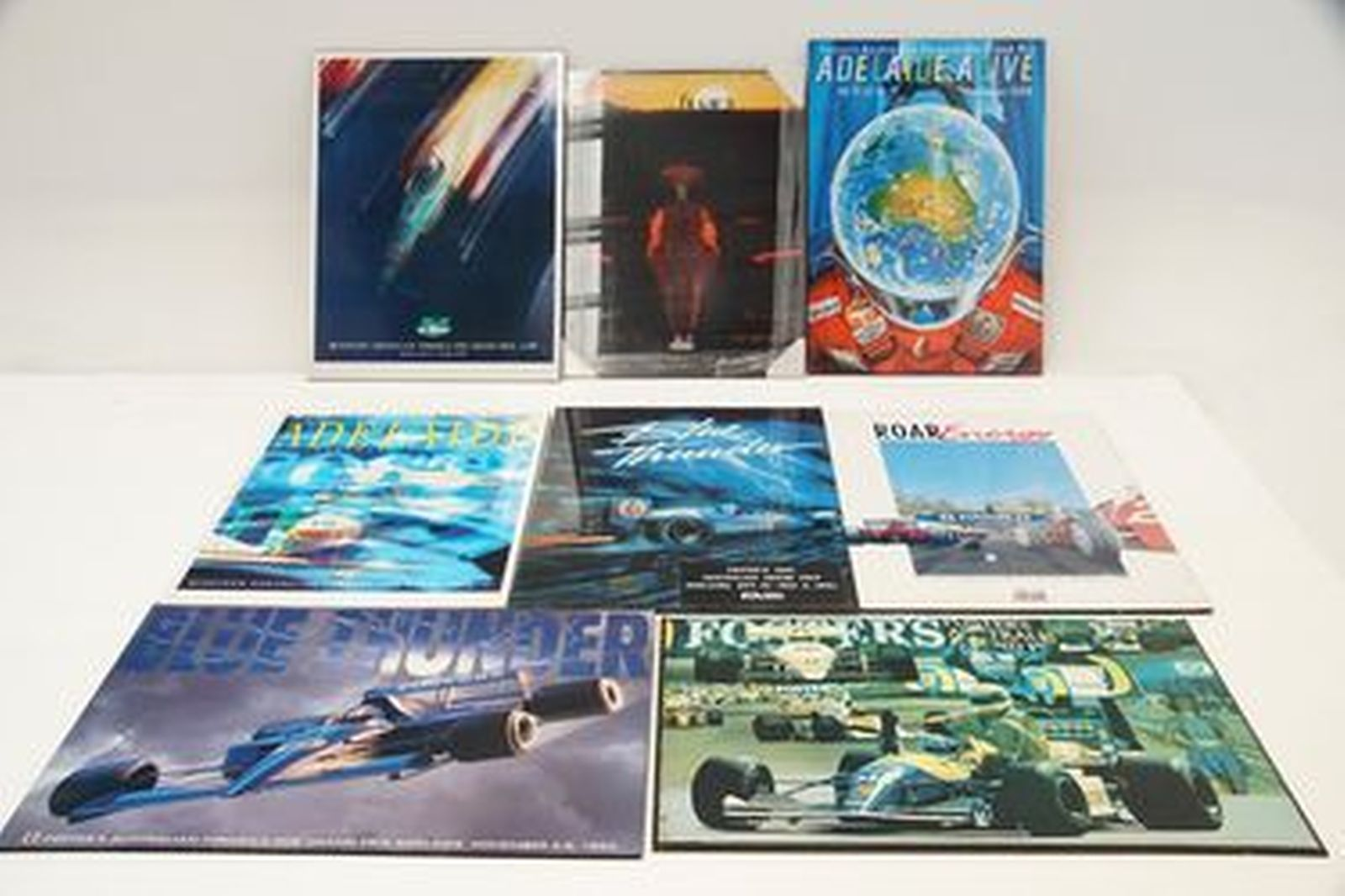 Block Mount Posters - 8 x Assorted Australian F1 Grand Prix Posters