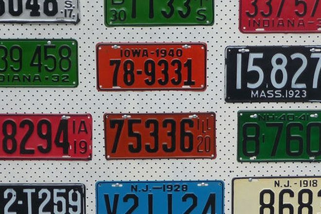 Number Plates - 12 x USA Number Plates