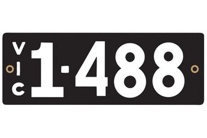 Victorian Heritage Number Plates '1.488'