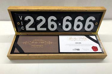 Victorian Heritage Number Plates  226.666