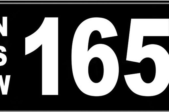 Number Plates - NSW Numerical Number Plates '165'