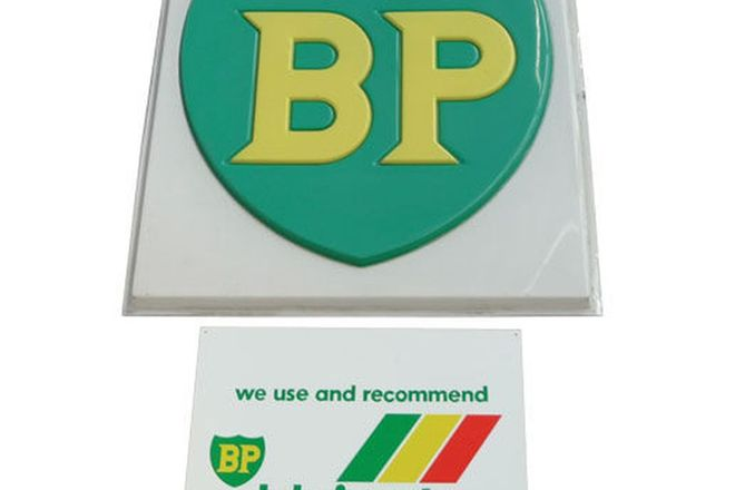 Signs - Large Plastic BP (4' x 4') & BP Lubricants (screen print)