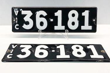 Victorian Heritage Numerical Number Plate '36.181'