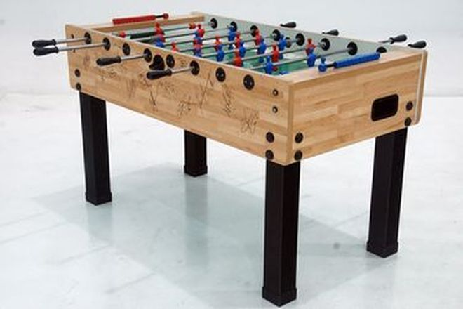 Fooseball Table - Signed by the 2007 Collingwood Football Club (32 signatures)
