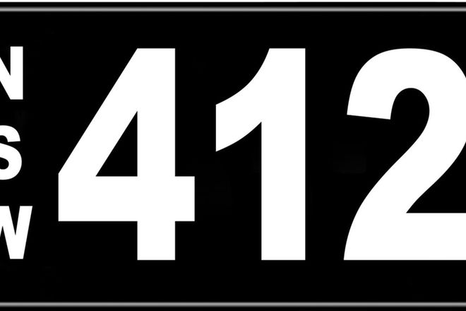 Number Plates - NSW Numerical Number Plates '412'