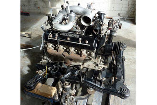 Rolls-Royce Engine - V-8 Silver Shadow II Engine on Suspension Cradle