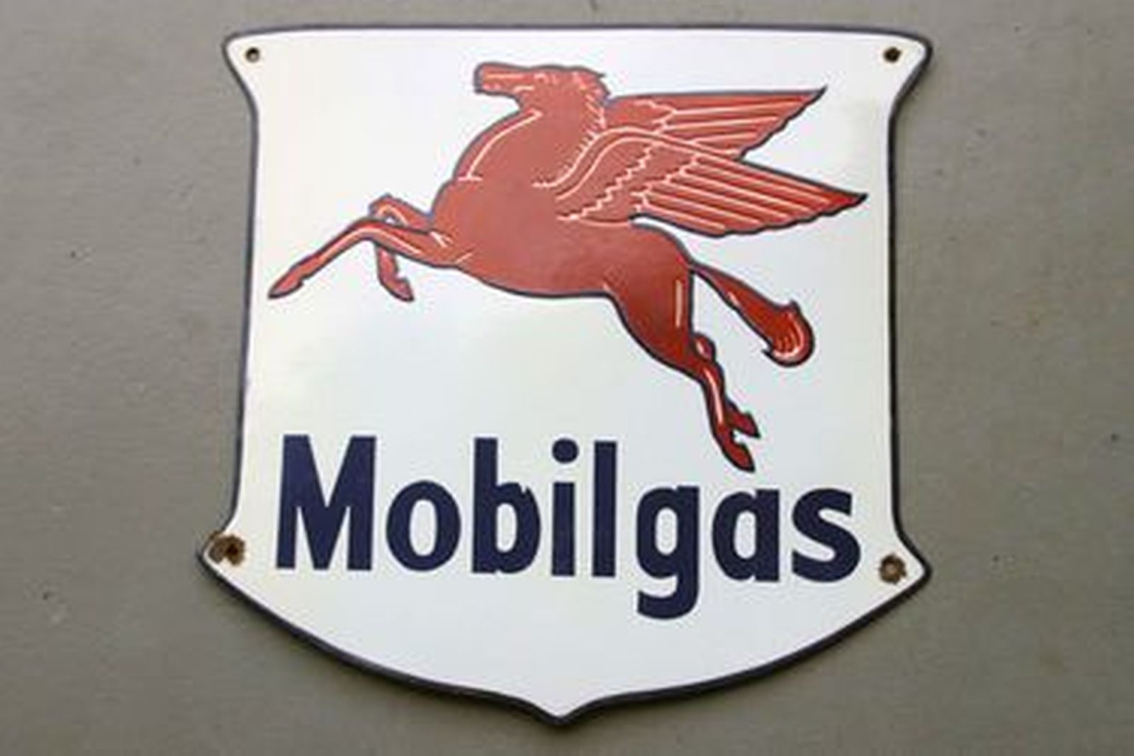 Enamel Sign - Mobil Gas Shield (45 x 42cm)