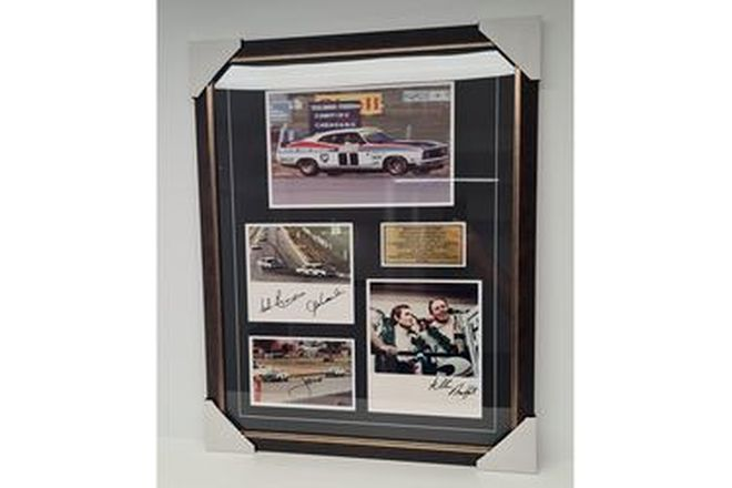 Bathurst Victory. 1977 Hardie Ferodo 1000 Framed Photo (605W x 760H)