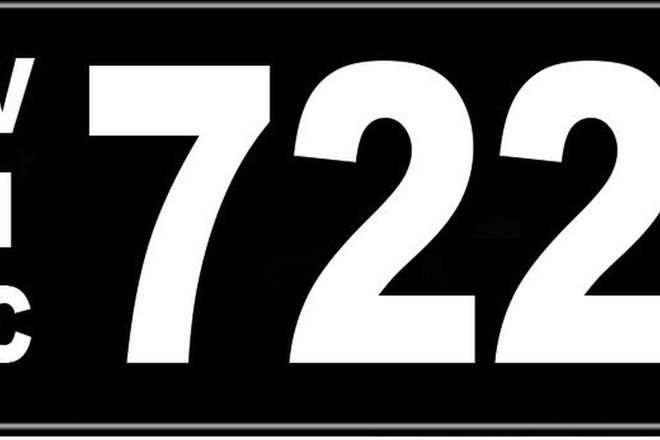 Number Plates - Victorian Numerical Number Plates '722'