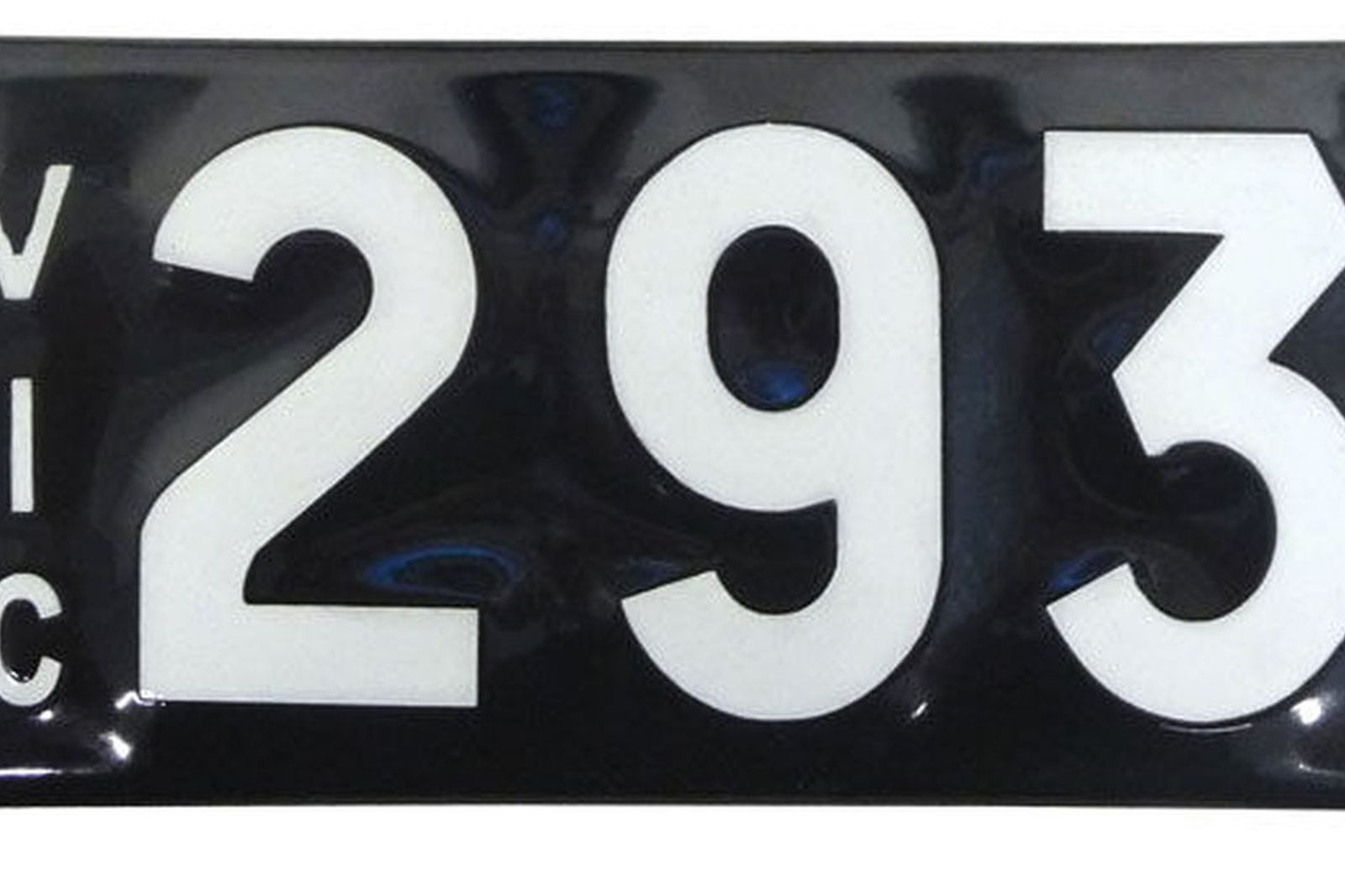 Number Plates - Victorian Numerical Plates - '293'