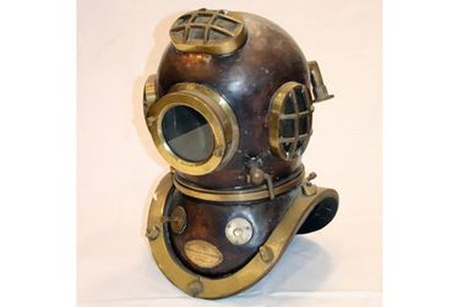 Marine Diver's Brass Helmet by Siebe Gorman & Co Limited Submarine Engineers London