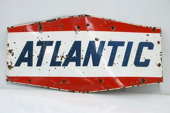 Sign - Enamel Atlantic Double sided sign (101 x 197cm)