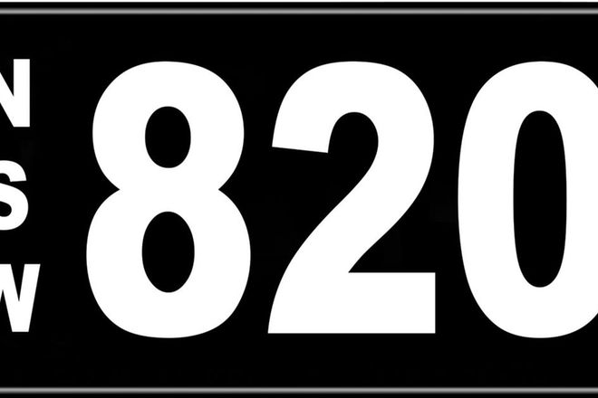 Number Plates - NSW Numerical Number Plates '820'