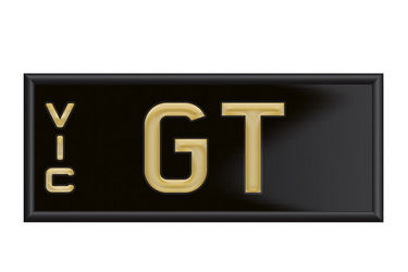 Victorian Signature Number Plates - 'GT'