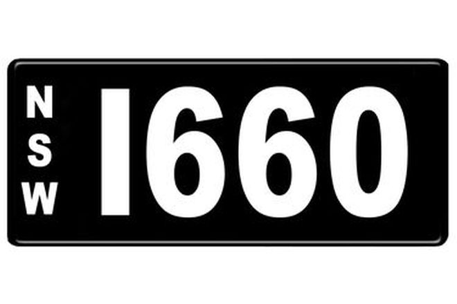 Number Plates - NSW Numerical Number Plates '1660'
