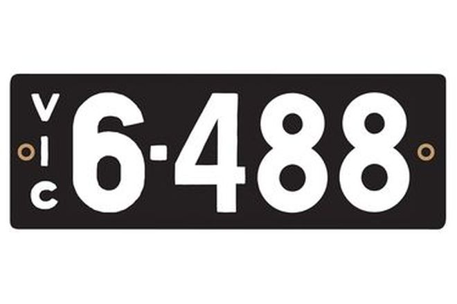 Victorian Heritage Numerical Number Plates - '6.488'