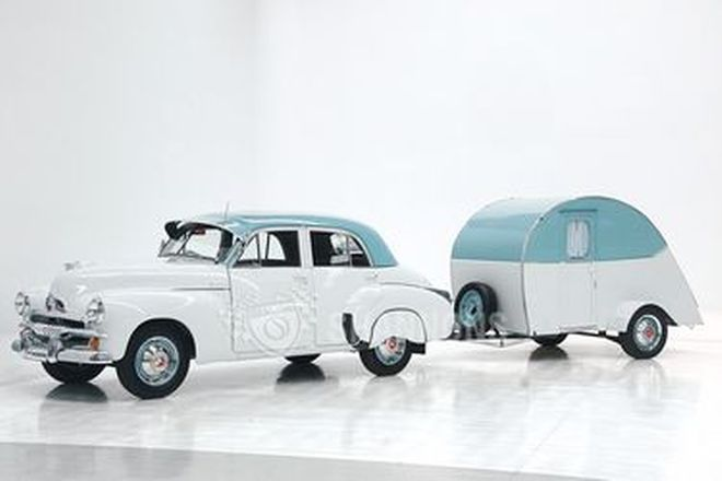 Holden FJ Special Sedan & 1952 Vintage Sports Minor Caravan