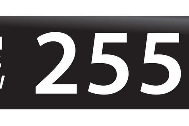 RTA NSW Numerical Number Plates '255'