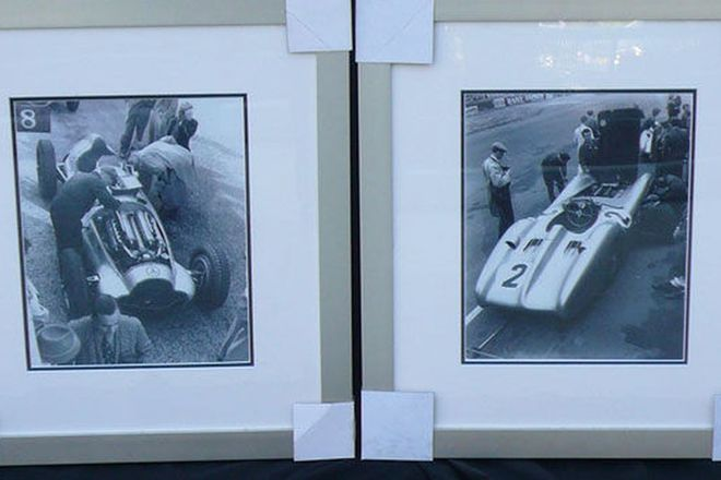 Framed Prints x 2 - Mercedes-Benz Racing Cars of the 1930s & 1950s