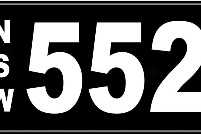 Number Plates - NSW Numerical Number Plates '552'