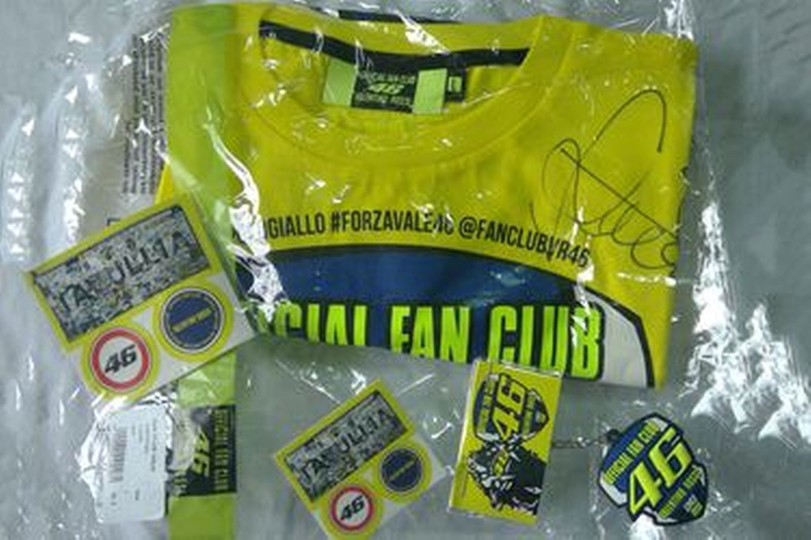 Valentino Rossi #46 Fan Club Pack  Signed