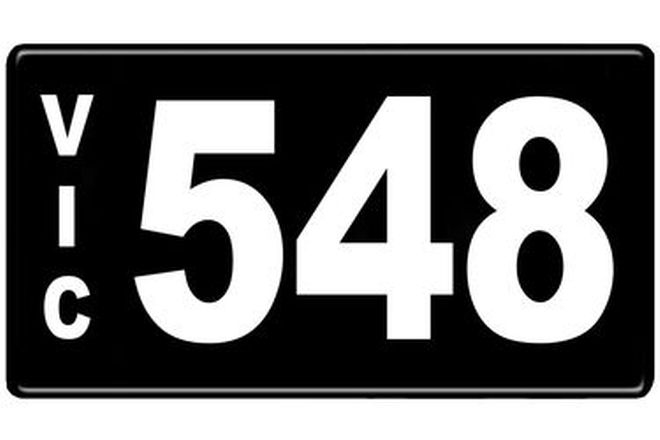 Number Plates - Victorian Numerical Number Plates '548'
