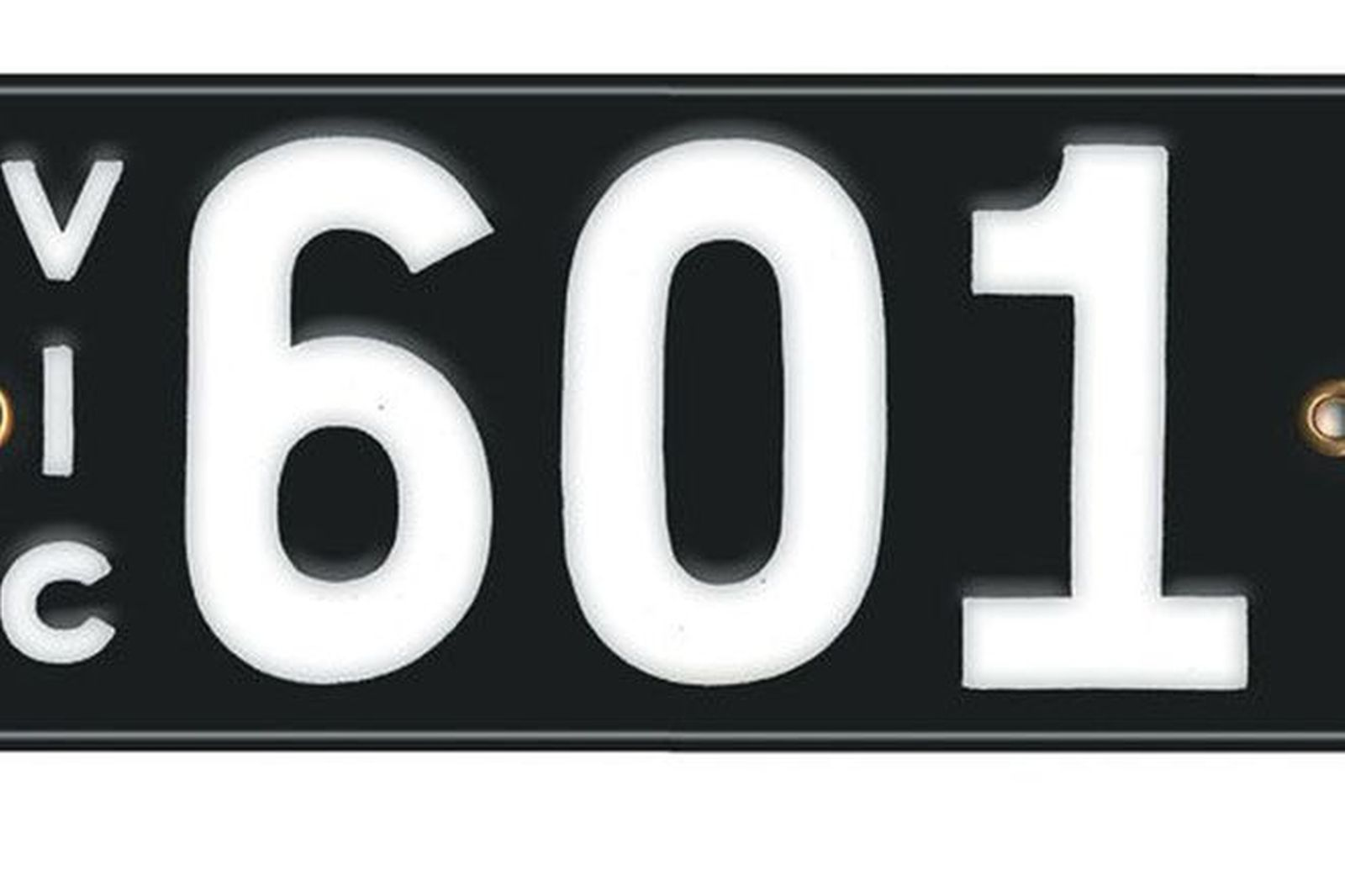Victorian Vitreous Enamel Number Plates - '601'