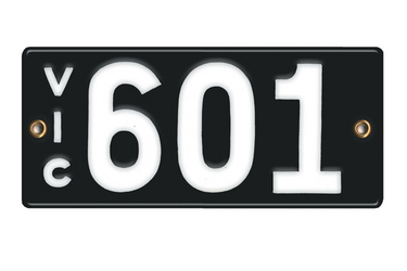 Victorian Vitreous Enamel Number Plates - '601'